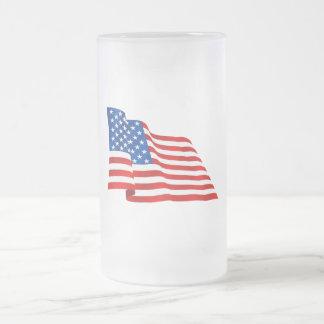 Bandera vieja de la gloria de los E.E.U.U. de los  Tazas De Café