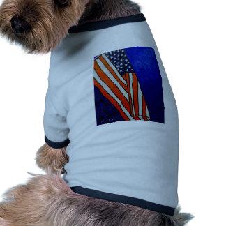 Bandera vieja de la gloria camisetas de mascota