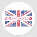 Bandera vieja de Londres Pegatina Redonda