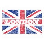 Bandera vieja de Londres Postales