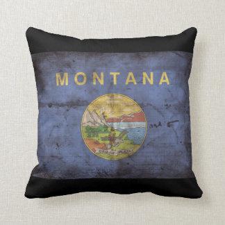 Bandera vieja de Montana Almohadas