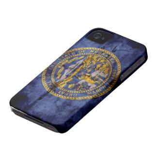 Bandera vieja de Nebraska; iPhone 4 Case-Mate Cobertura