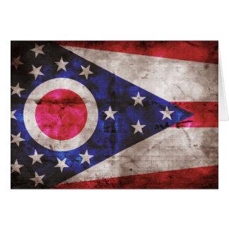Bandera vieja de Ohio; Tarjeta Pequeña