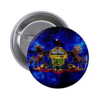 Bandera vieja de Pennsylvania; Pin Redondo 5 Cm