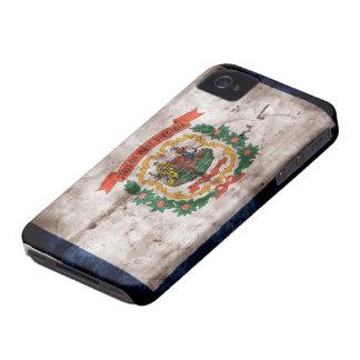 Bandera vieja de Virginia Occidental Case-Mate iPhone 4 Fundas