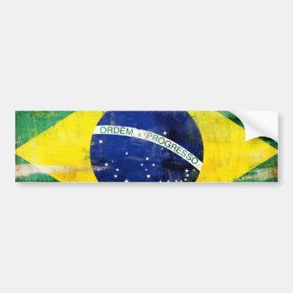 Bandera vieja del Brasil Etiqueta De Parachoque