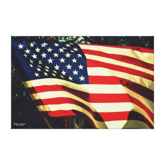 Bandera vieja magnífica impresión en lienzo