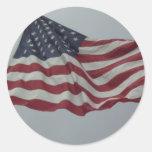 Bandera vieja magnífica pegatina redonda