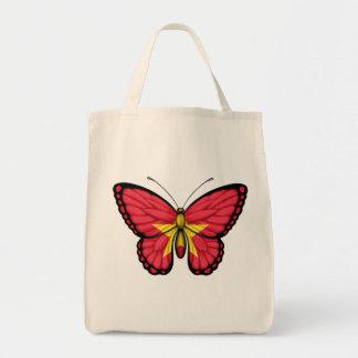 Bandera vietnamita de la mariposa bolsa lienzo