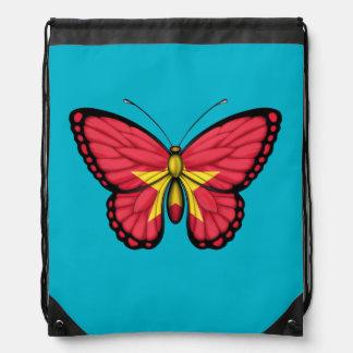 Bandera vietnamita de la mariposa mochilas