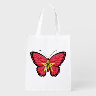 Bandera vietnamita de la mariposa bolsa de la compra