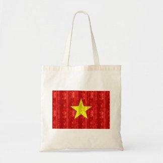 Bandera vietnamita de madera bolsas