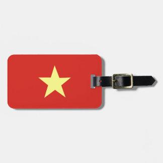 Bandera vietnamita etiquetas de equipaje
