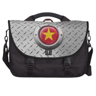 Bandera vietnamita industrial con el gráfico de ac bolsas de portátil