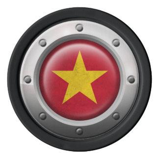 Bandera vietnamita industrial con el gráfico de juego de fichas de póquer