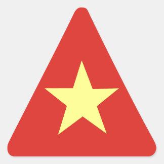 Bandera vietnamita colcomanias triangulo
