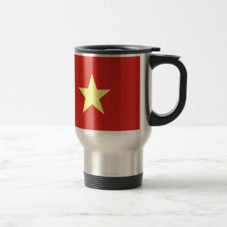 Bandera vietnamita taza de viaje de acero inoxidable