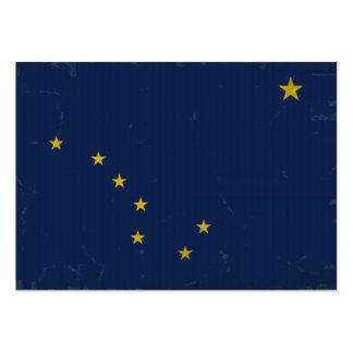 Bandera VINTAGE.png de Alaska Plantilla De Tarjeta De Negocio