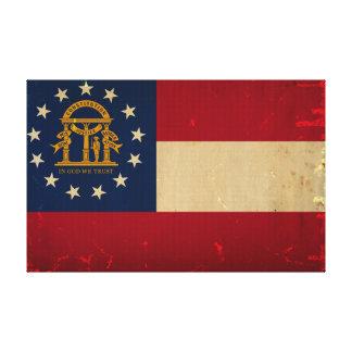Bandera VINTAGE png de Georgia