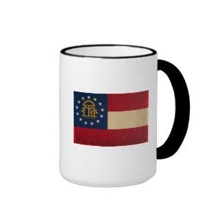 Bandera VINTAGE.png de Georgia Taza De Dos Colores