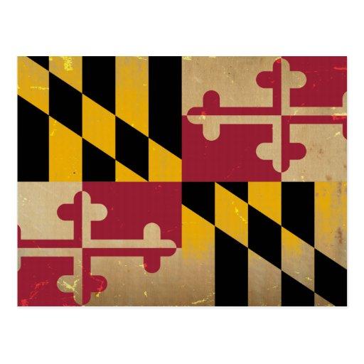 Bandera VINTAGE.png de Maryland Tarjetas Postales