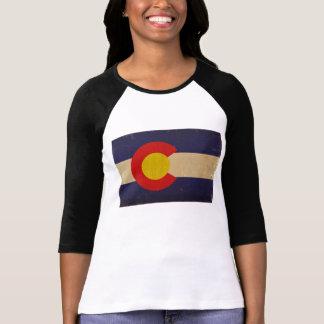 Bandera VINTAGE.png del estado de Colorado Playera
