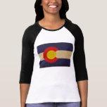Bandera VINTAGE.png del estado de Colorado Playeras