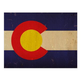 Bandera VINTAGE.png del estado de Colorado Postales