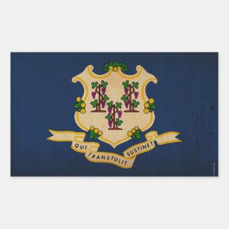 Bandera VINTAGE.png del estado de Connecticut Rectangular Pegatina