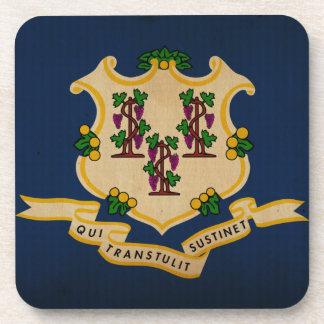 Bandera VINTAGE.png del estado de Connecticut Posavasos