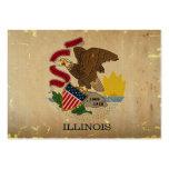 Bandera VINTAGE.png del estado de Illinois Tarjeta De Visita