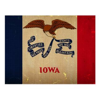 Bandera VINTAGE.png del estado de Iowa Tarjetas Postales