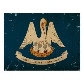Bandera VINTAGE.png del estado de Luisiana Postal