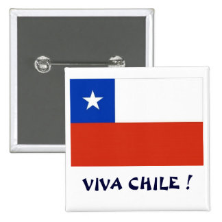 Bandera Viva Chile I Pin Cuadrado