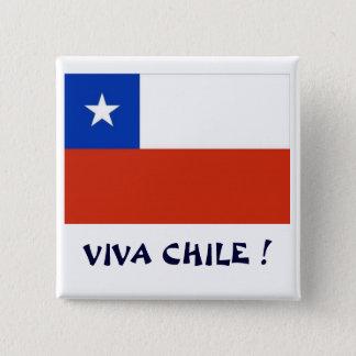 Bandera Viva Chile I Pinback Button