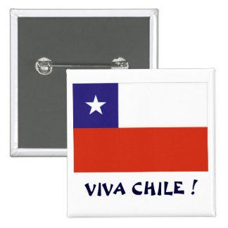 Bandera Viva Chile IV Pin Cuadrado