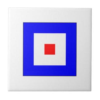 Bandera W del ICS Azulejo Cuadrado Pequeño