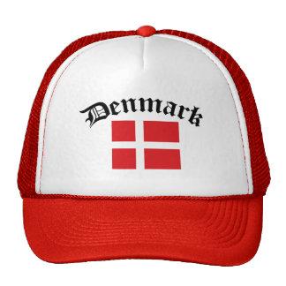 Bandera w/Inscription de Dinamarca Gorros Bordados
