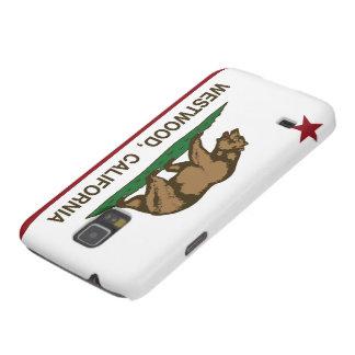 Bandera Westwood de la república de California Fundas Para Galaxy S5