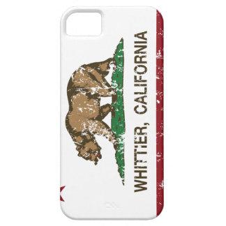 Bandera Whittier del estado de California iPhone 5 Case-Mate Protector