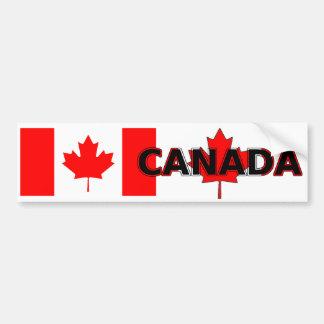 Bandera y Canadá canadienses con la pegatina para Etiqueta De Parachoque
