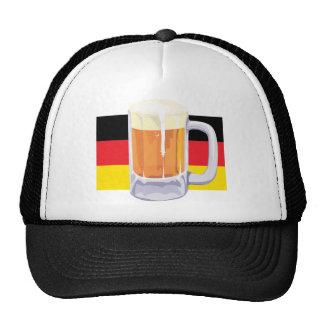 Bandera y cerveza alemanas gorras de camionero