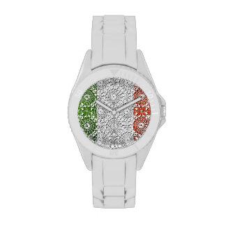 Bandera y cordón italianos de lujo reloj
