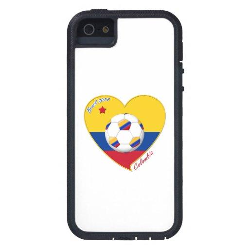 Bandera y equipo nacional de COLOMBIA FÚTBOL 2014 iPhone 5 Cobertura