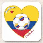 Bandera y equipo nacional de COLOMBIA FÚTBOL 2014 Posavasos De Bebidas