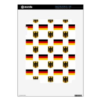 Bandera y escudo de Alemania iPad 2 Calcomanías