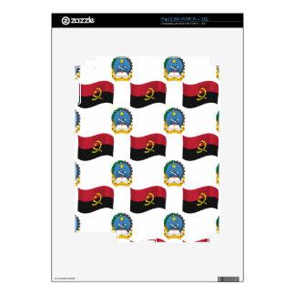 Bandera y escudo de Angola iPad 2 Calcomanía