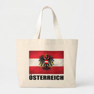 Bandera y escudo de armas austríacos bolsa tela grande