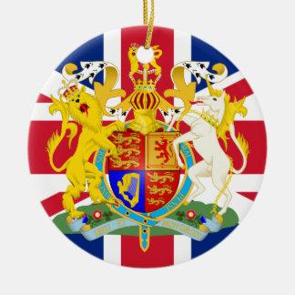 Bandera y escudo de armas BRITÁNICOS Ornamente De Reyes