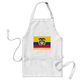Bandera y escudo de armas de Colombia Delantal